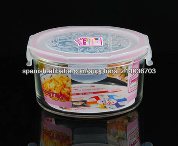 envases de vidrio de almacenamiento de alimentos pyrex con tapa hermética