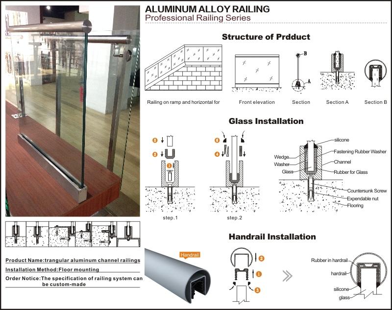 U Channel Glass Railing Installation Details
