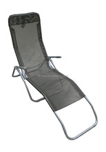 2015 Hot Sale Outdoor beach luxury metal frame sling fabric folding rocking chair
