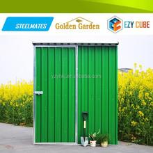 6*4ft green garden industrial metal storage shed