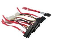 mini sas 36pin to 4x22pin sas power cable with power sata big 4pin