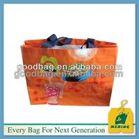 promotional pp foldable non woven shopping bag with your logo printing
