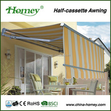 Popular Aluminum alloy frame awning/power blind motor with max 1.2m valance