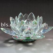 crystal crystal lotus flower figurine