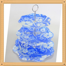 3 tiers glass cake candy and chocolate stands