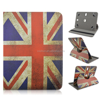 Retro UK flag Union Jack Flower print Rotate Flip Stand PU Leather Cover Case For Apple iPad Air