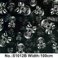 Skull water transfer printing film/water transfer printing from China, No. S1012B