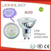 Led down light manufacture supply 3w 220-240v 120 degree led gu10 spotlight