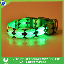 Hot Selling Colorful LED Light Up Safety Flashing Light Dog/Pet Collars