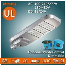 Risen DLC UL CE RoHS 5 Years Warranty Led Parking Lot, Daylight Sensor solar street light all in one