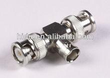 BNC male - male - female T type adaptor / ROHS / BNC connector