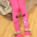 2014 moda crianças doces cor do gato dos desenhos animados collants meninas linda tatuagem de impressão pantyhose meias 6428