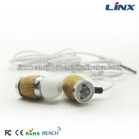 Wholesale wood earbud earphones free samples