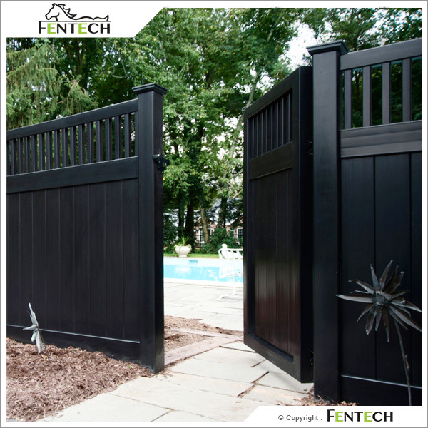 High quality white black vinyl privacy fence factory buy