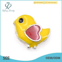 Newest Design Cute Small Birds Heart floating charms for Glass Memory Floating Lockets