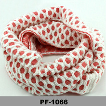2014 loop two tones simple pattern warm winter cable knitted infinity scarf