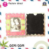 Fridge sticker magnetic photo frame and wooden fridge magnet photo frame