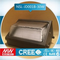 free sample ul dlc ip65 cul and street lights outoor lighting 30w new design led wall pack, led bulb pack