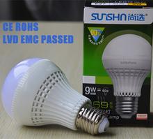 high lumen low decay lighting led 9w A65 ra>80