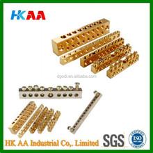 Custom brass neutral bars links, brass terminal for power distribution