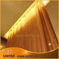Cheap Window Draperies Metallic Sequin Cloth For Kitchen Curtains
