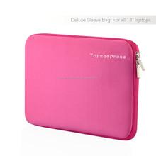 Soft waterproof neoprene 13.3inch laptop sleeve in pink color