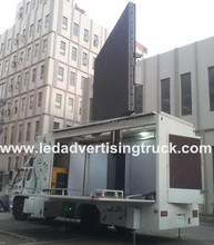 Mounted led screen TV truck,movable advertising billboards vehicle, outdoor big screen van