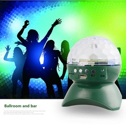 Portable wireless mini bluetooth speaker with led light made in China