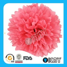 "6"" Pink Baby Shower Paper Pom Poms Party Decoration"