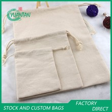 Canvas Drawstring Pouch/Bag Factory Stock and Custom Promotional Bag