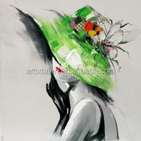 handmade Modern beautiful lady oil painting