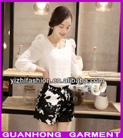 2015 New Design Chiffon Ladies Blouse Cutting For Ladies Blouse Pattern