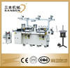 (SBM-240) 2-station automatic die-cutting & hot foil stamping machine, roll foil, printed label die cutter with embossing seater