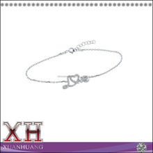 Hot Sale 925 Sterling Silver Wholesale Cubic Zircon Love Bracelet