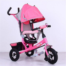 Kids Tricycle with Push Bar/Colorful Children Tricycles/Kid's Tricycle With Sunshade