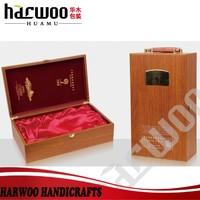 Classical wood wine bottle box with nice branding logo