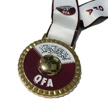 2014 Customized embossed metal bowling medals