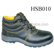 embossed leather factory low price EN20345 security construction work boot