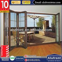 Australia Standard aluminum Clad Wood Bi-folding Door/ residence Aluminium Clad Wood Folding Door