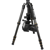 F16303 ZOMEI Z699C Carbon Fiber & Alloy Portable Tripod with Ball Head & Carry Bag Compact Travel for DSLR Camera Camcorder