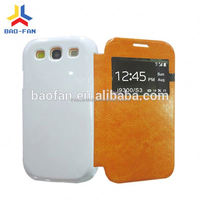Colorful leather with 3D sublimation phone case for samsung galaxy S3