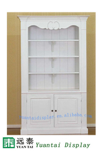 museum quality display cases,tall wooden display ,white wooden display cabinet for museum decoration
