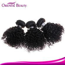 wholesale price top selling Virgin kinky curly human hair brazilian hair sew in weave