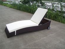 Deluxe Alumi Lounge Sets Rattan Sun lounger Outdoor Furniture