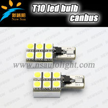 canbus no polares t10 5050 6 smd led blanco lado del coche cuña de luz de la lámpara bombilla