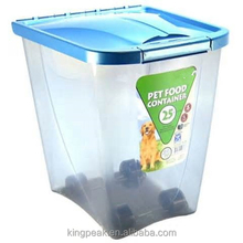 2015 Hot Sale Pet food container/Plastic Dog food container/Pet Airtight food storage container