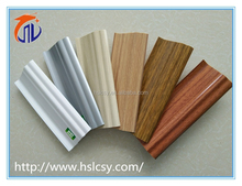 factory price plastic pvc foam skirting board with rubber edges