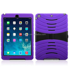 Wholesale 2014 Newest Factory Price Universal Book Stylish Kickstand Combo Case for Ipad Air for Ipad 5 Robot Kickstand Case