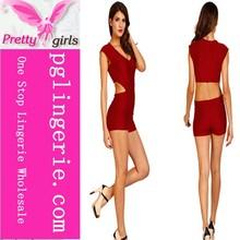 Hot Sale Womens V Neck Sleeveless Bodycon Jumpsuit Romper Trousers Clubwear
