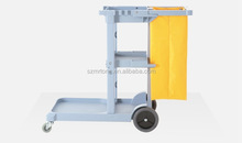Hotel cleaning cart/Hotel housekeeping maid plastic Service trolley